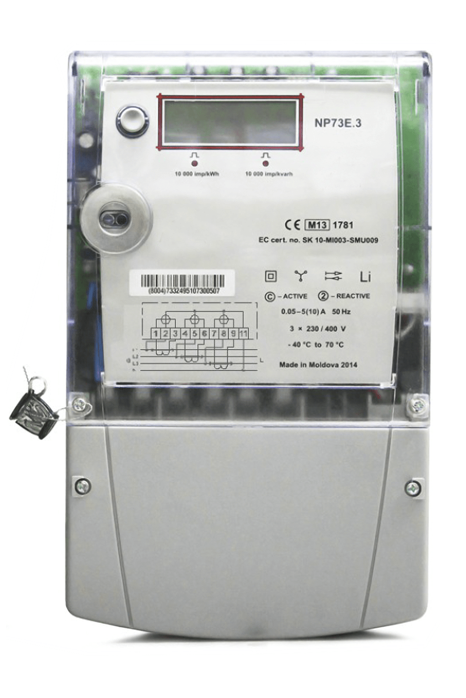 Electric meter threephase